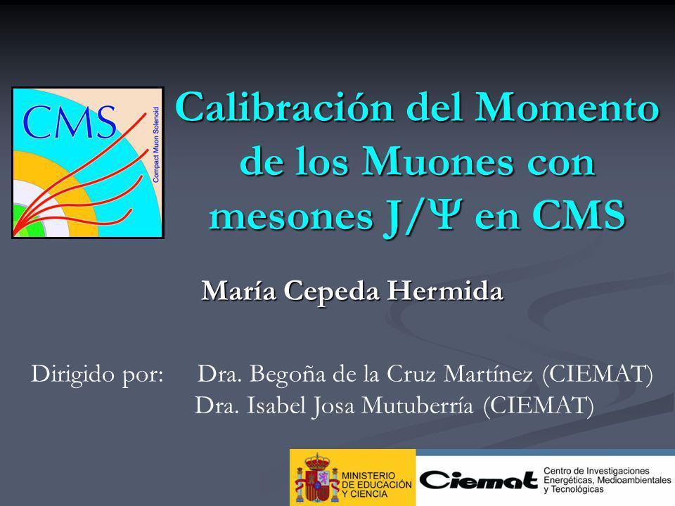 Calibración del Momento de los Muones con mesones J/ en CMS