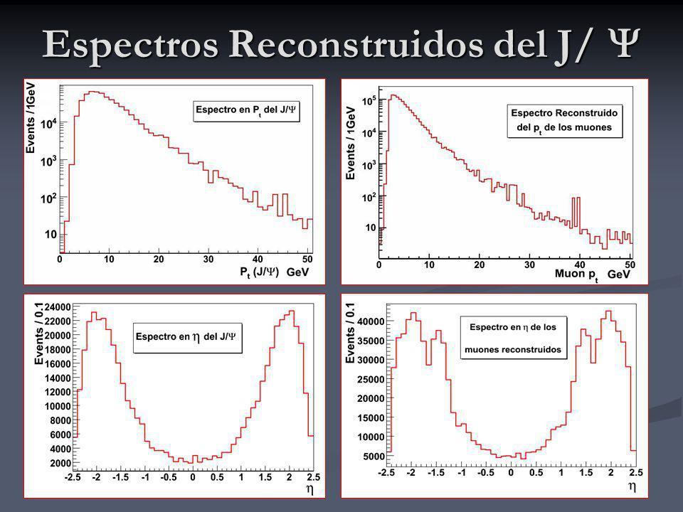 Espectros Reconstruidos del J/
