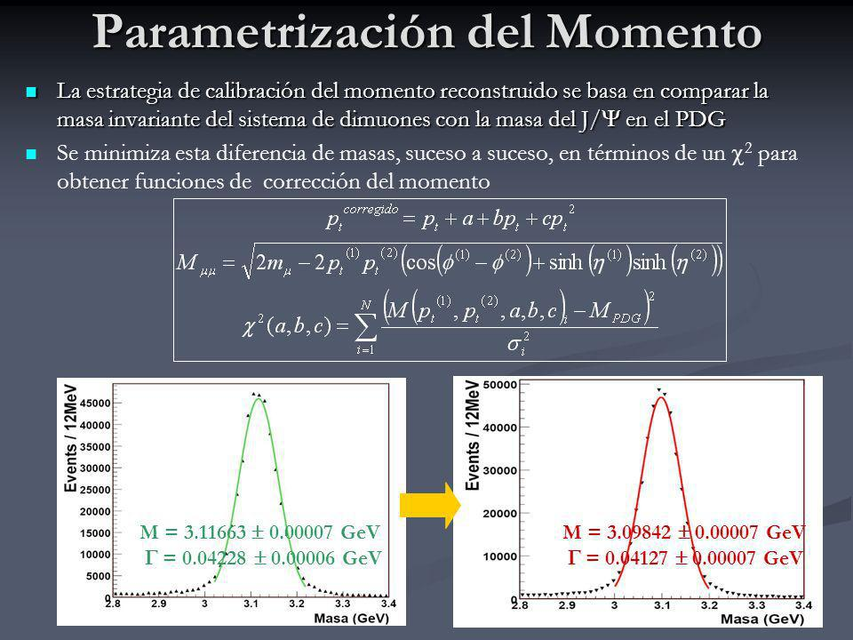 Parametrización del Momento