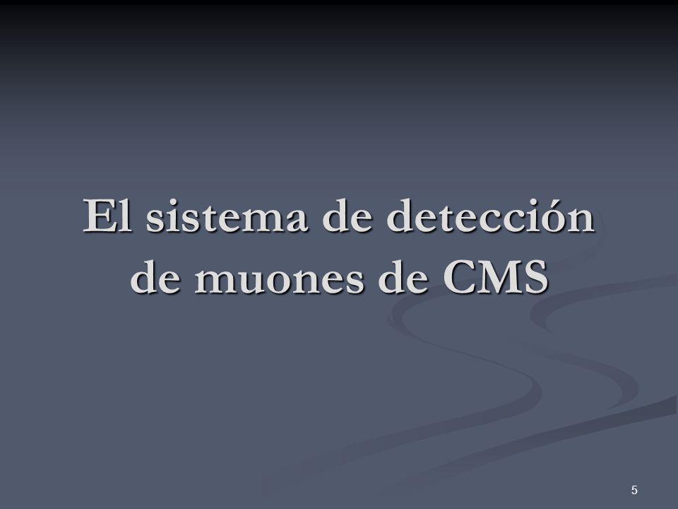 El sistema de detección de muones de CMS