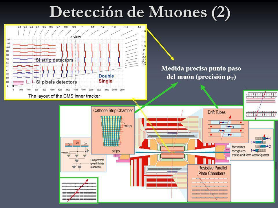 Medida precisa punto paso del muón (precisión pT)