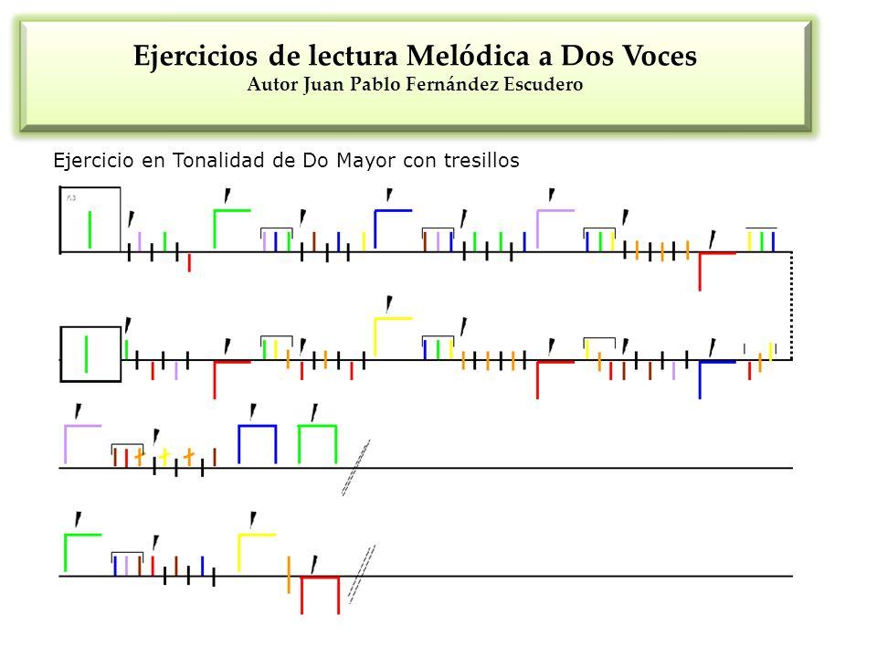 Ejercicios de lectura Melódica a Dos Voces Autor Juan Pablo Fernández Escudero