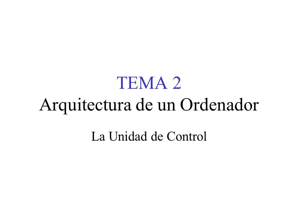 TEMA 2 Arquitectura de un Ordenador