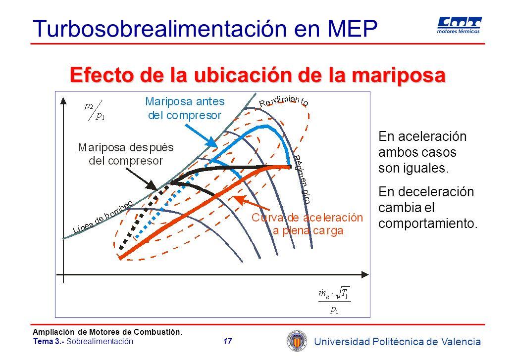Turbosobrealimentación en MEP