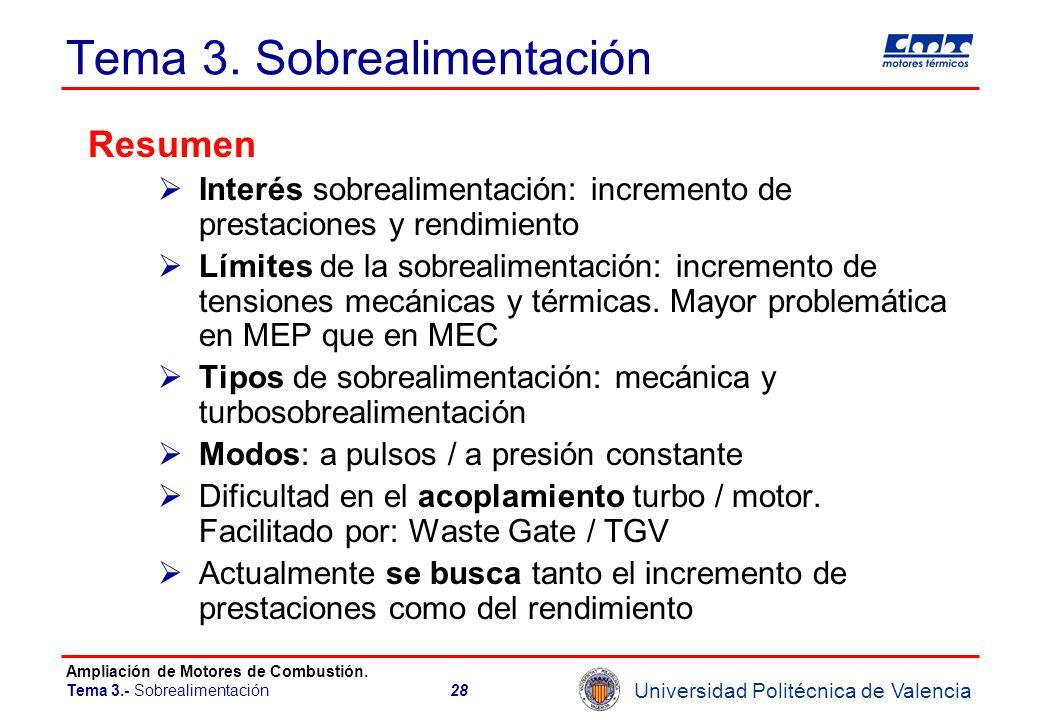 Tema 3. Sobrealimentación