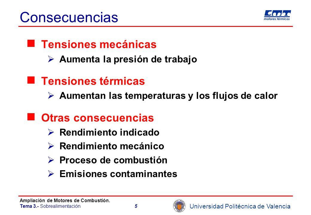 Consecuencias Tensiones mecánicas Tensiones térmicas