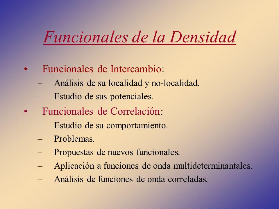 Funcionales de la Densidad