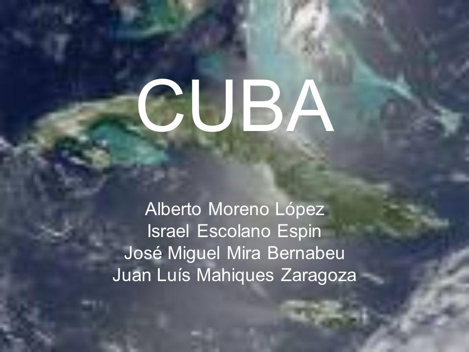 CUBA Alberto Moreno López Israel Escolano Espin