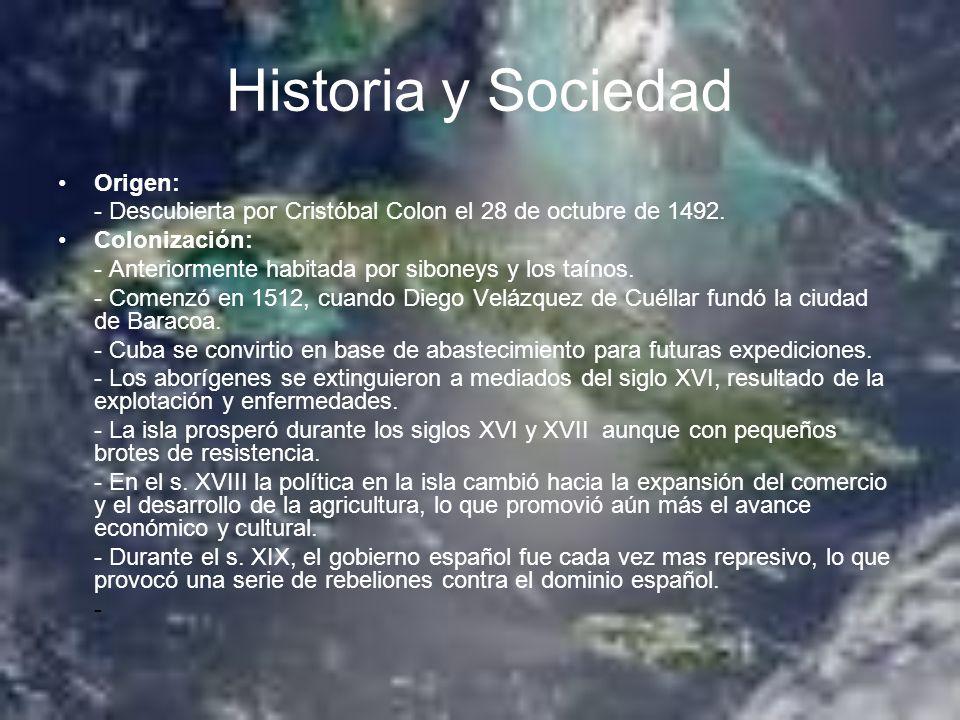 Historia y Sociedad Origen: