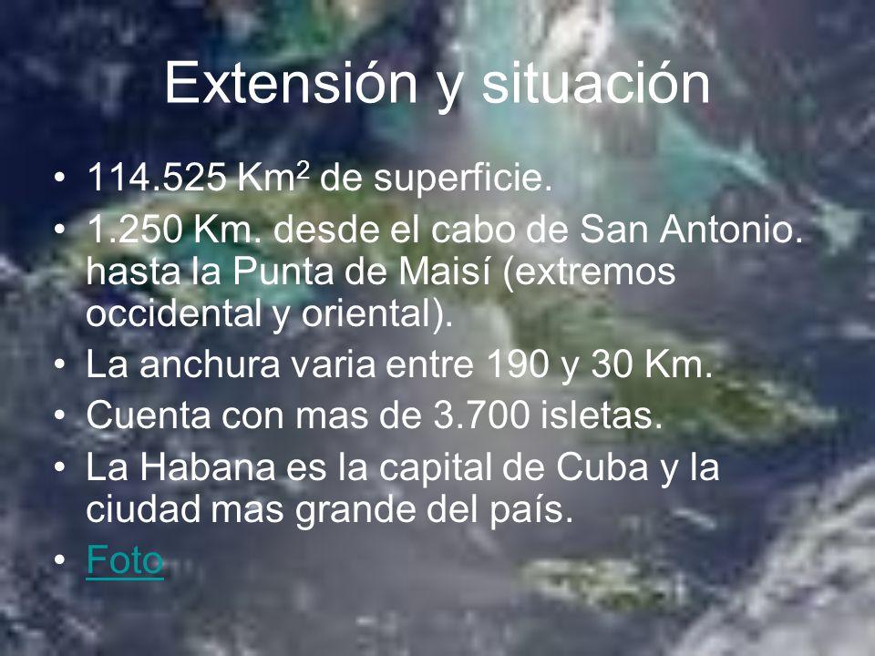 Extensión y situación 114.525 Km2 de superficie.