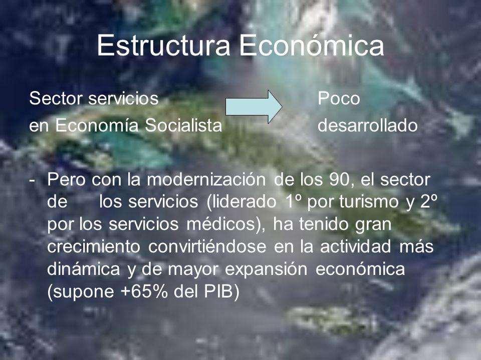 Estructura Económica Sector servicios Poco