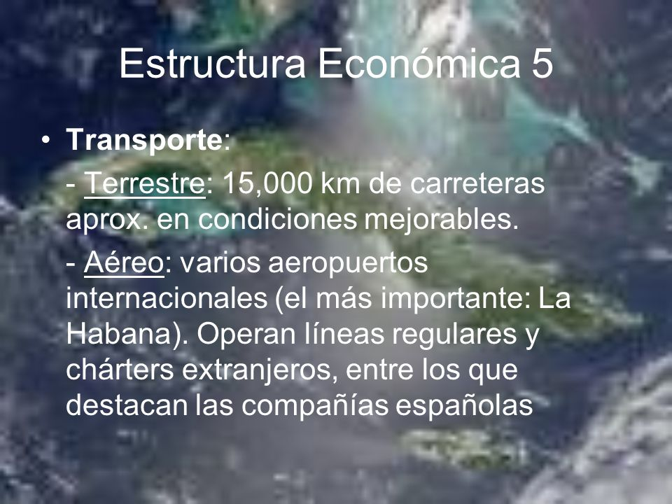 Estructura Económica 5 Transporte: