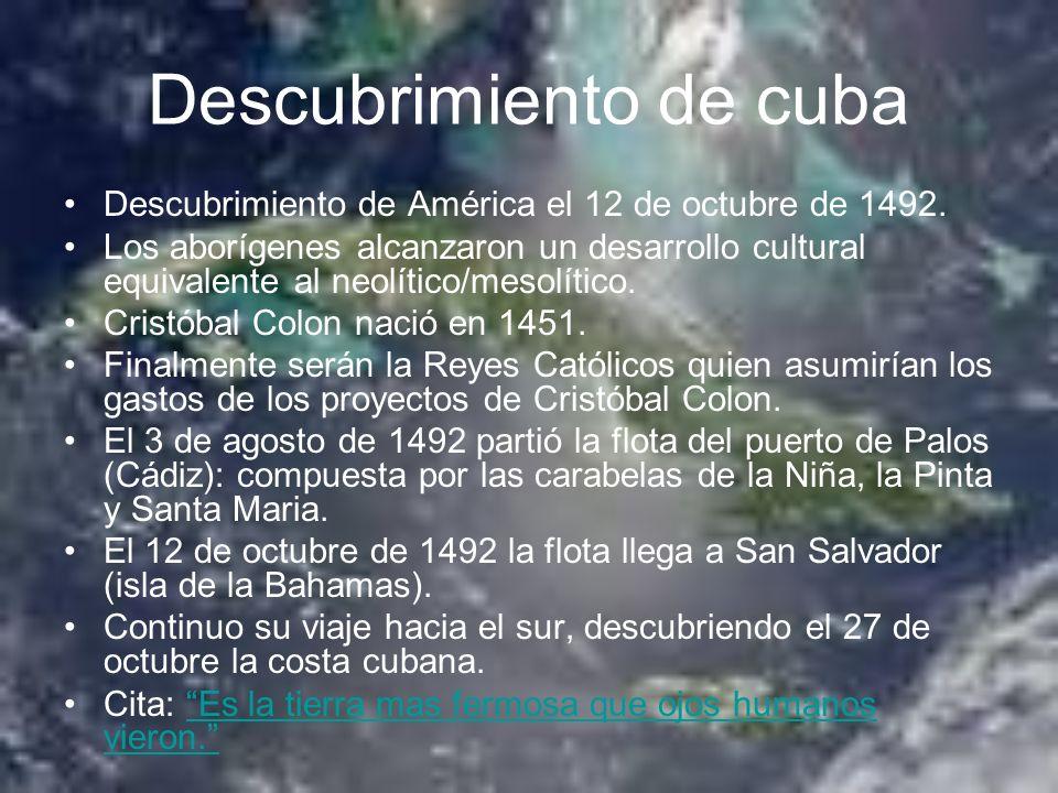 Descubrimiento de cuba