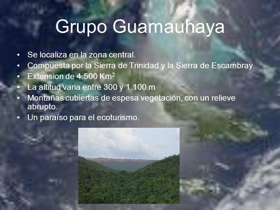 Grupo Guamauhaya Se localiza en la zona central.