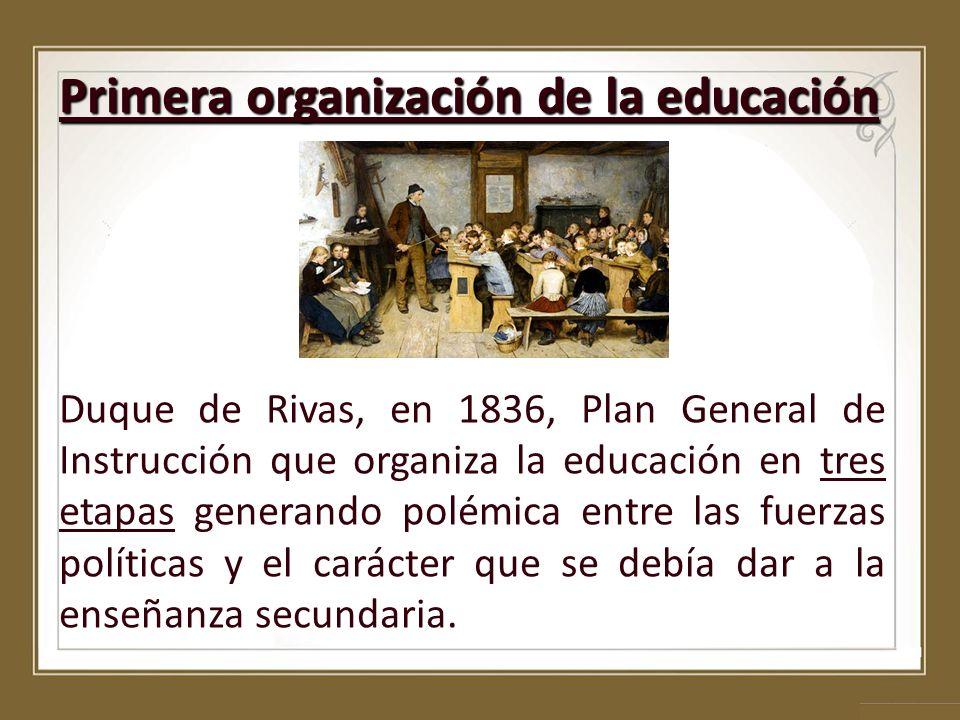 Primera organización de la educación