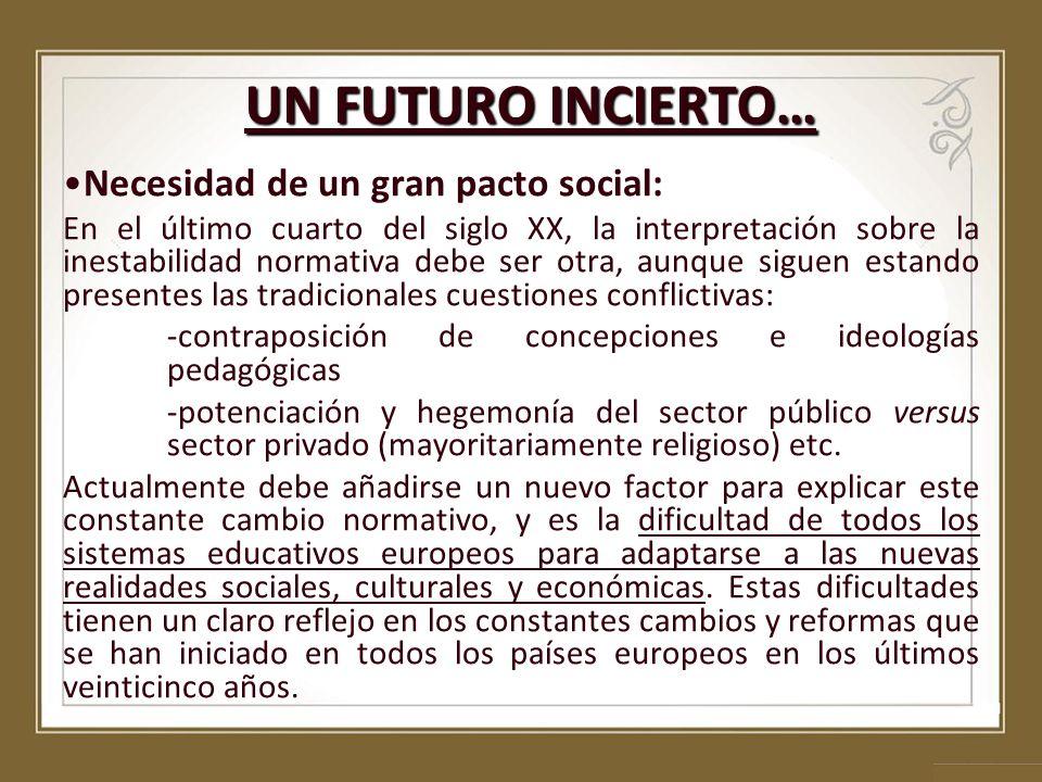 UN FUTURO INCIERTO… Necesidad de un gran pacto social: