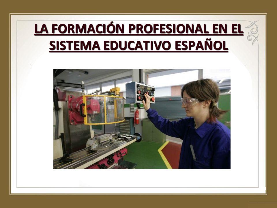 LA FORMACIÓN PROFESIONAL EN EL SISTEMA EDUCATIVO ESPAÑOL