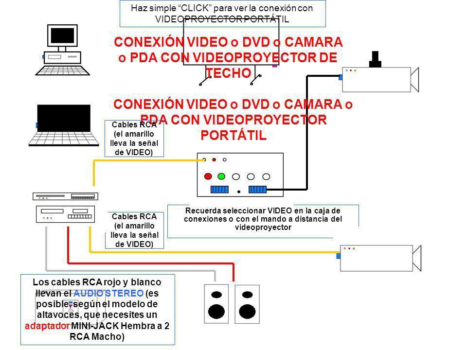 Cables RCA (el amarillo lleva la señal de VIDEO)