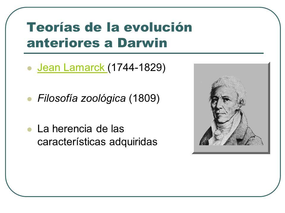 Teorías de la evolución anteriores a Darwin