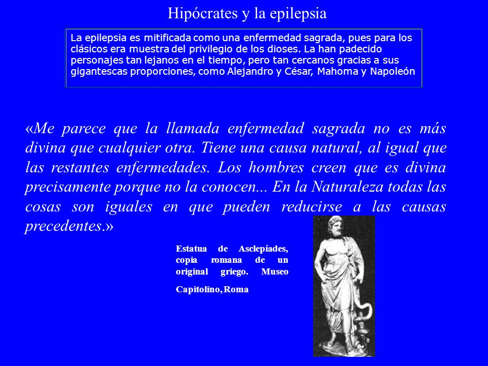 Hipócrates y la epilepsia
