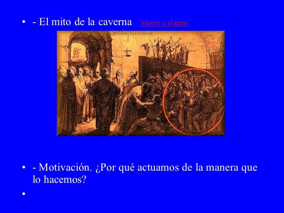 - El mito de la caverna Matrix y el mito