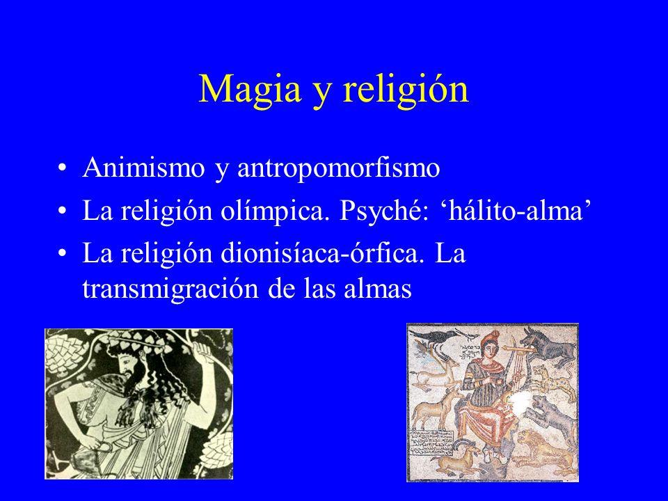 Magia y religión Animismo y antropomorfismo