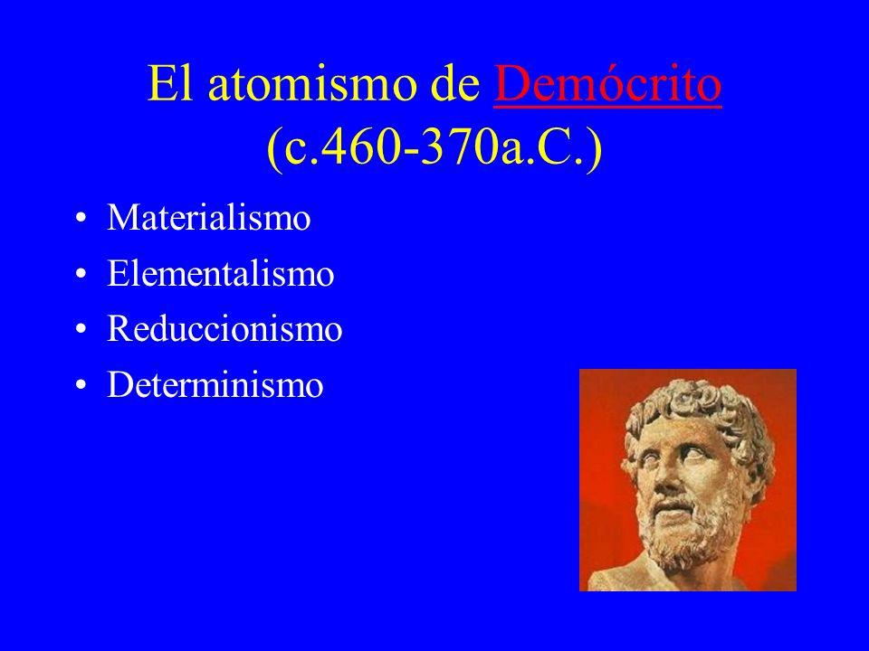 El atomismo de Demócrito (c.460-370a.C.)