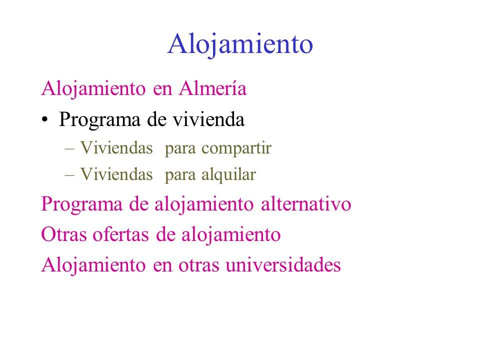 Alojamiento Alojamiento en Almería Programa de vivienda