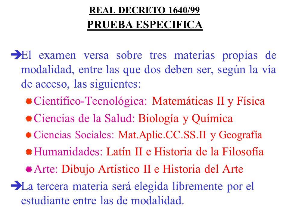 Científico-Tecnológica: Matemáticas II y Física