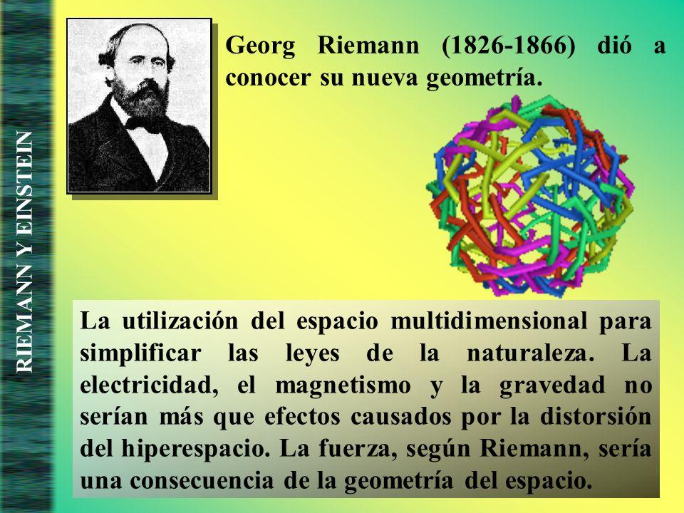 Georg Riemann (1826-1866) dió a conocer su nueva geometría.