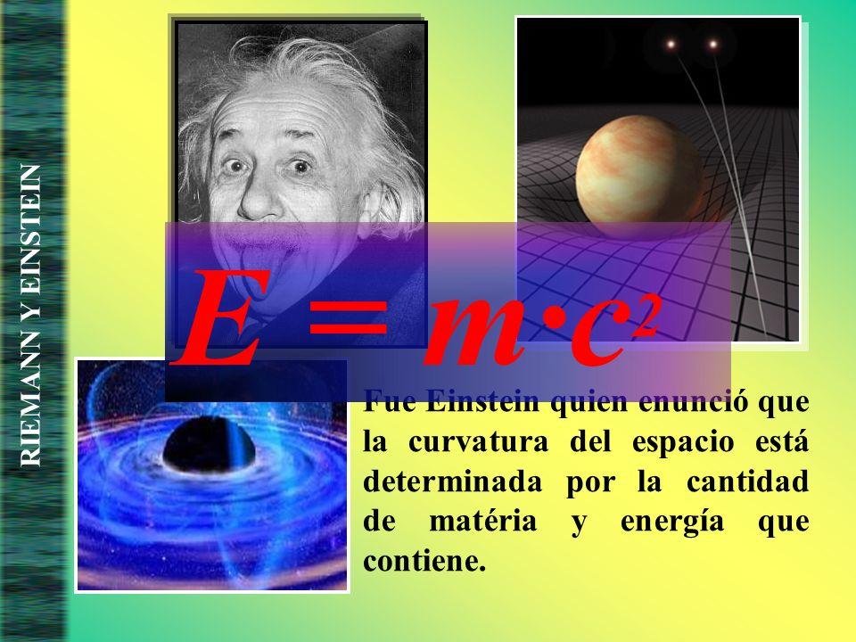 E = m·c2 RIEMANN Y EINSTEIN.