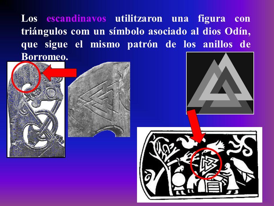 Los escandinavos utilitzaron una figura con triángulos com un símbolo asociado al dios Odín, que sigue el mismo patrón de los anillos de Borromeo.
