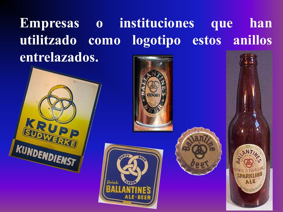 Empresas o instituciones que han utilitzado como logotipo estos anillos entrelazados.