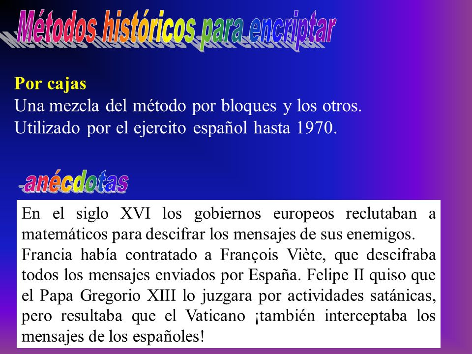 Métodos históricos para encriptar