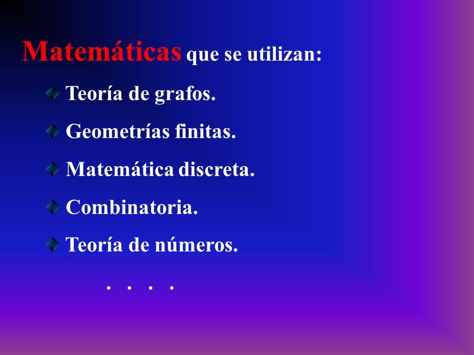 Matemáticas que se utilizan: