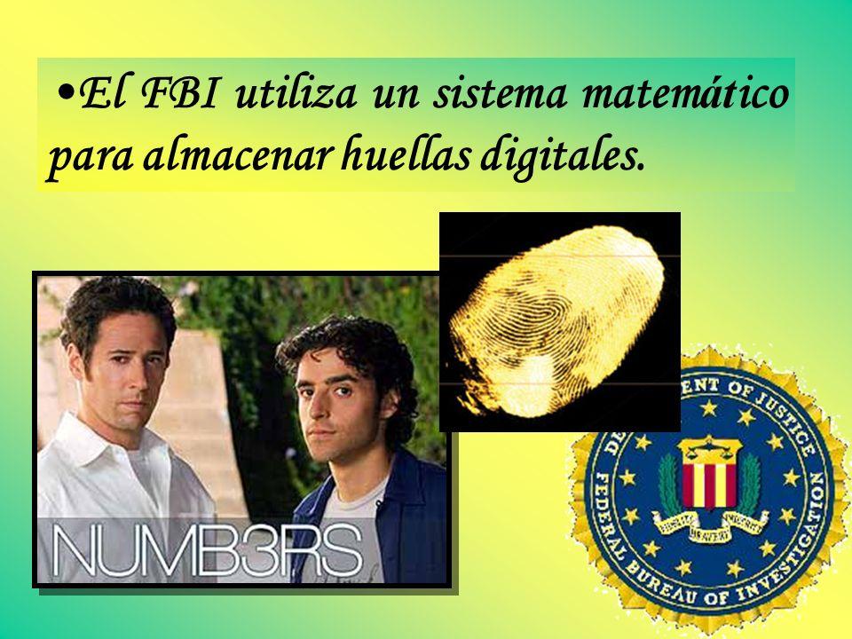 El FBI utiliza un sistema matemático para almacenar huellas digitales.