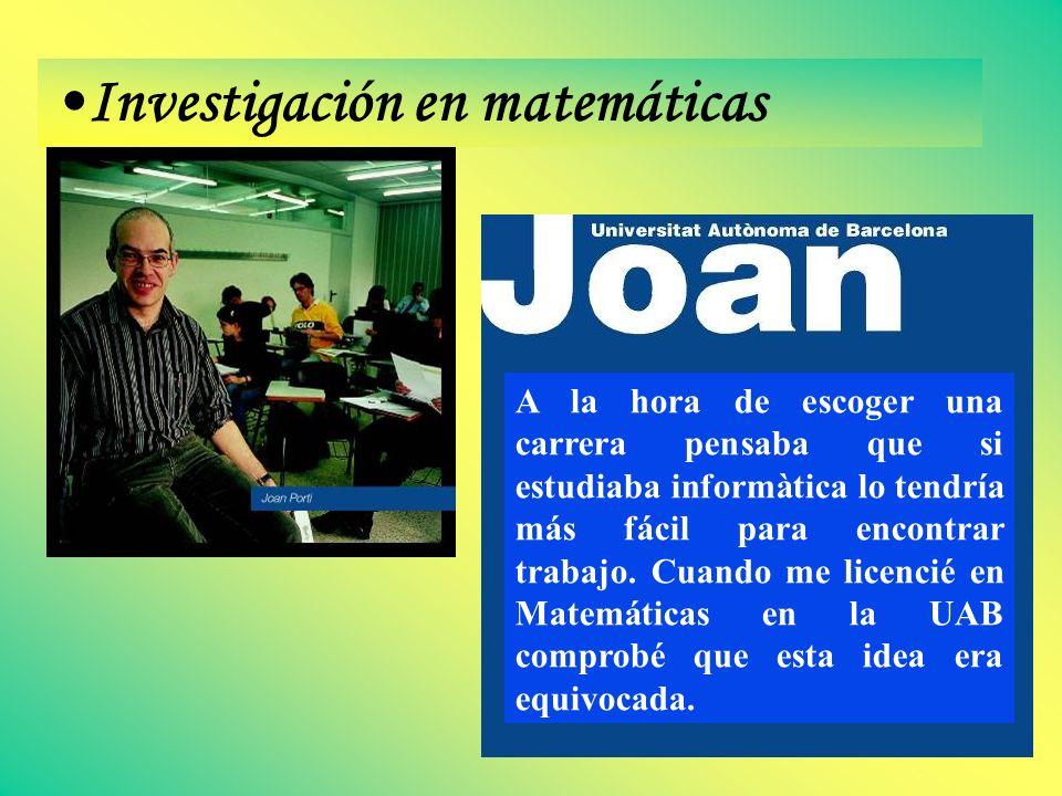 Investigación en matemáticas