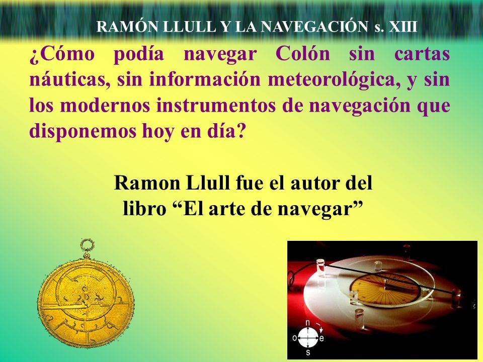 Ramon Llull fue el autor del libro El arte de navegar
