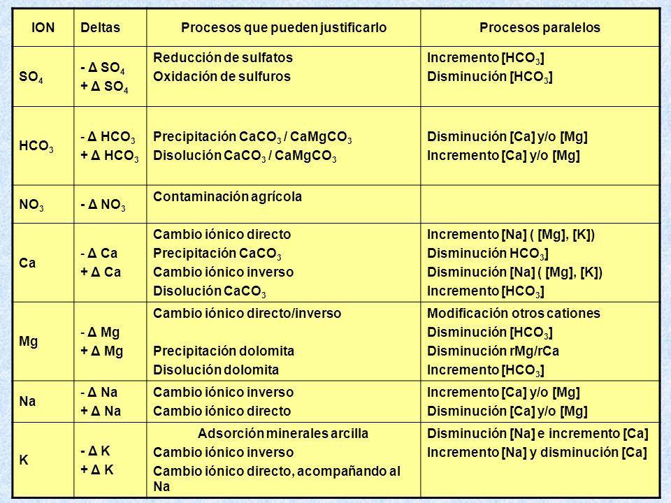 Procesos que pueden justificarlo Adsorción minerales arcilla