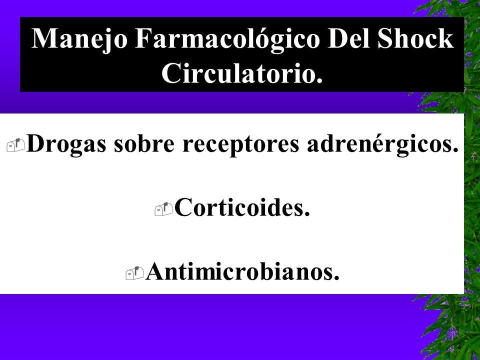 Manejo Farmacológico Del Shock Circulatorio.