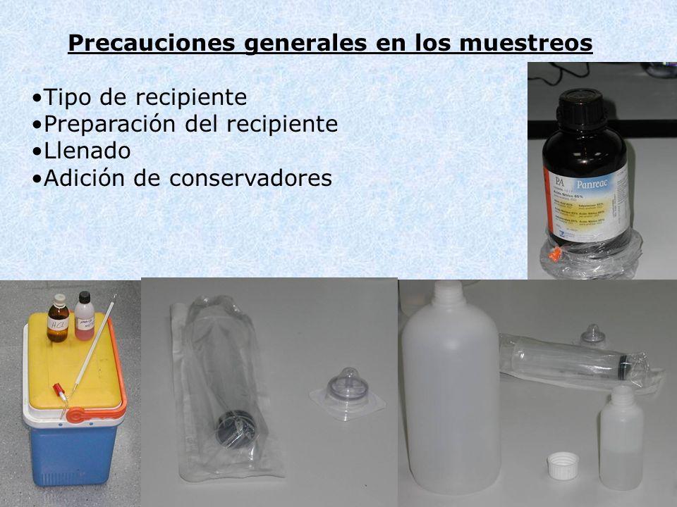 Precauciones generales en los muestreos