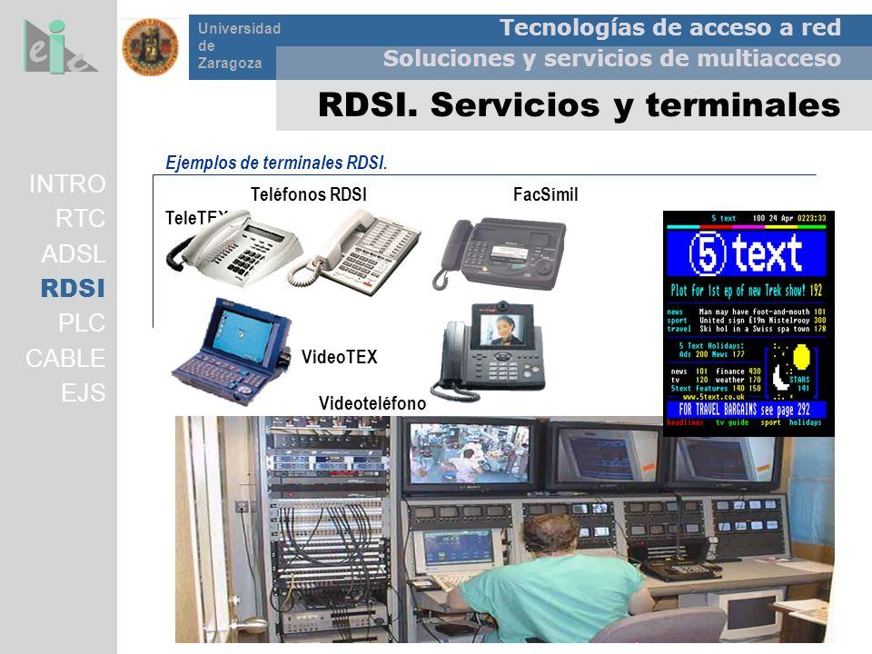 RDSI. Servicios y terminales