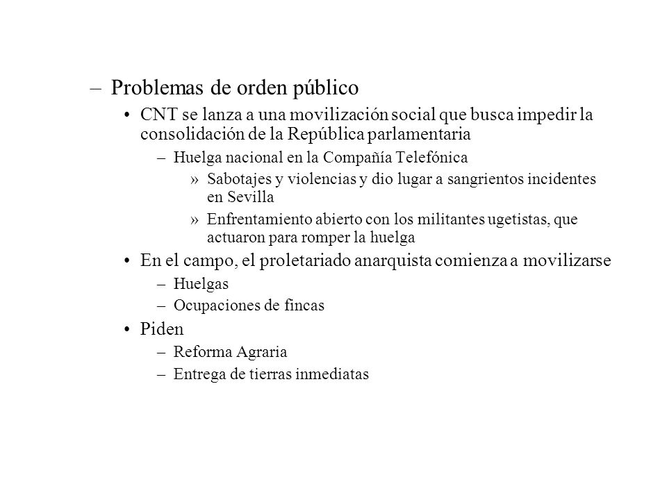 Problemas de orden público