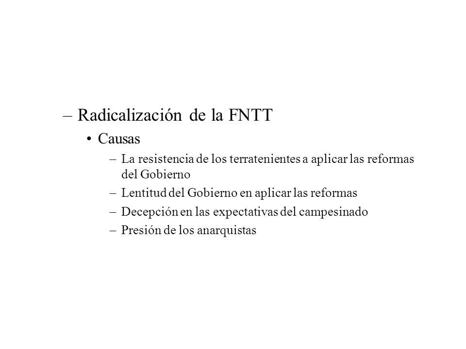 Radicalización de la FNTT