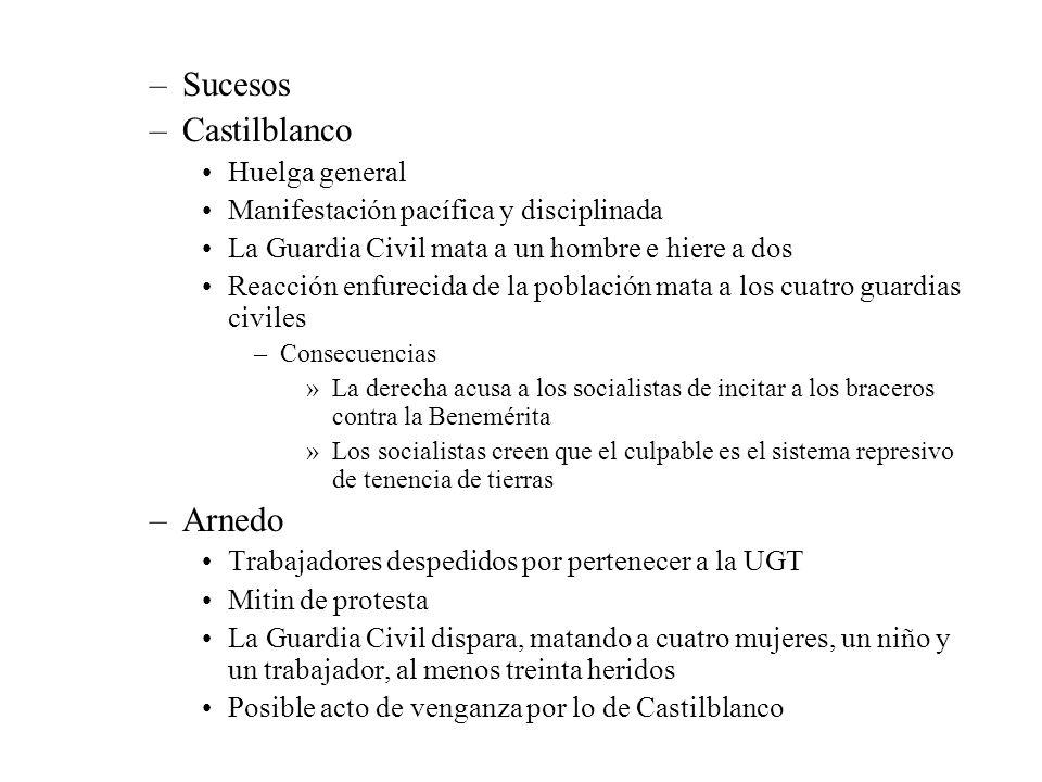 Sucesos Castilblanco Arnedo Huelga general