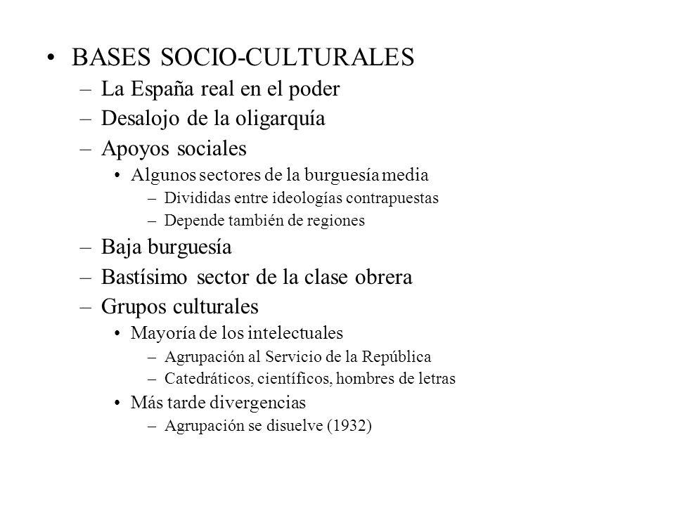 BASES SOCIO-CULTURALES