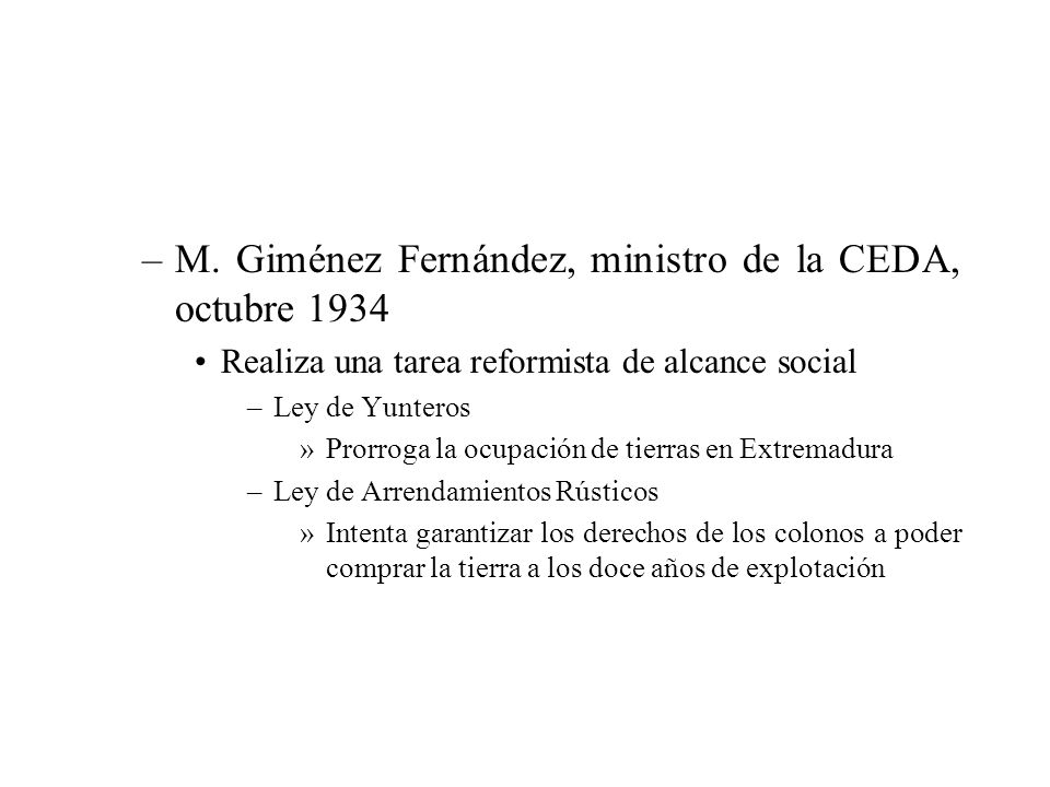 M. Giménez Fernández, ministro de la CEDA, octubre 1934