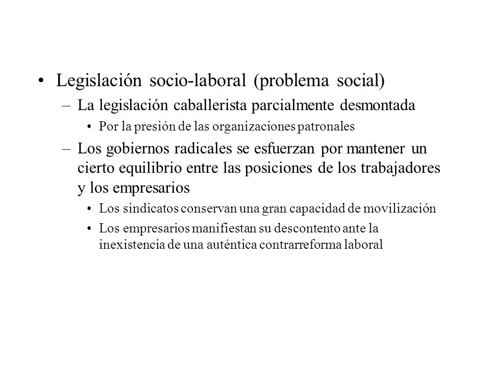 Legislación socio-laboral (problema social)
