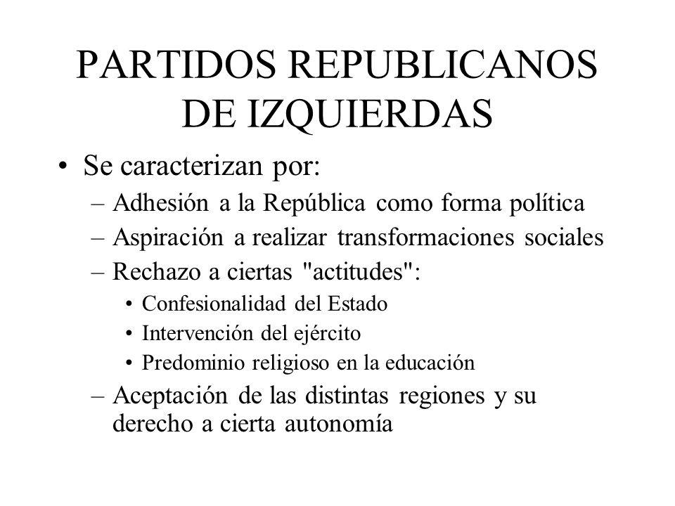 PARTIDOS REPUBLICANOS DE IZQUIERDAS