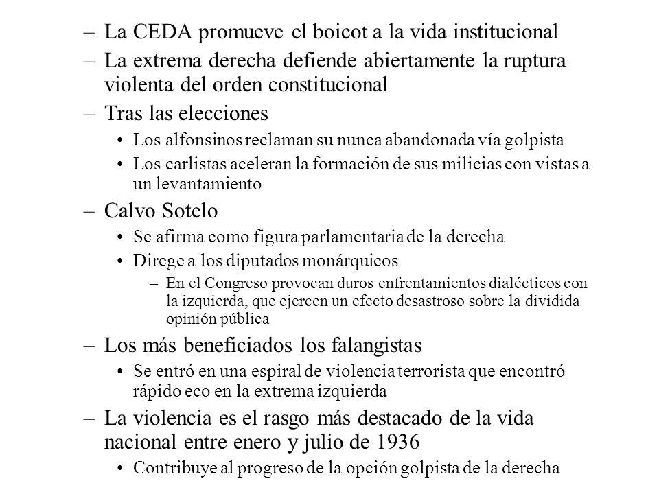 La CEDA promueve el boicot a la vida institucional